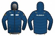 картинка Куртка пуховик DAKOTA jacket man RBU black\blue 9V130.9.RUS от магазина